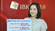 IBK투자證, 年최고 15% 추구 원금보장형 ELS 등 공모