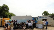 세아상역 아이티에 위생물자, 트럭 제공