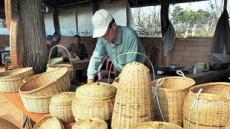 옛날 물고기잡던 대바구니…집안에 들여놓으면 최고의 장식품