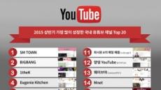 'SMTOWN' 'BIGBANG' 채널, 국내 유튜브 상반기 성장 1,2위