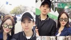 """17세 연상연하 미나·류필립 '벚꽃 데이트'…""""제대 한달 도 안 남았다"""""""