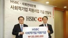 HSBC, 사회적 기업 운영자금 추가 지원