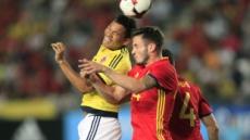 스페인 콜롬비아 2-2 무승부…주고 받고, 또 주고 받고