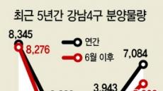 규제해도 뜨겁기만한 '강남4구'  하반기 일반분양만 5600가구