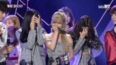 5년 만에 음악방송 1위, 티아라 '눈물 펑펑'