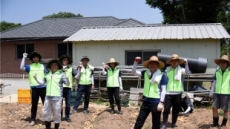 건설공제조합, 용인 장애인 복지시설서 감자 수확ㆍ기부금 전달