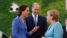 [포토뉴스]메르켈 총리 방문한 英 왕세손부부