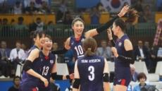 '한국 여자배구, 폴란드 꺾고 2그룹 선두 '