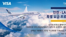비자카드, 싱가포르항공 인천-LA노선 70만원대 판매