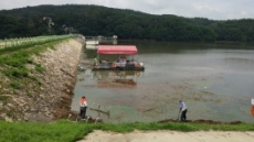 수원시, 광교저수지 유입 폐기물 수거