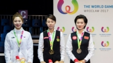 당구여제 김가영 2017 월드게임 9볼 은메달