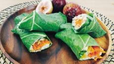 냉장고속 각종 채소와 돌돌 말아먹는'케일랩' 한끼 식사로 손색없죠
