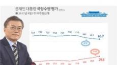 文 지지율 4주 연속 하락...65.7%