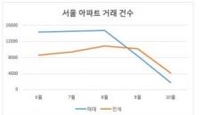활력 잃은 서울 아파트…매매ㆍ전세 거래급감