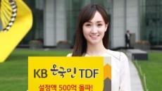 KB자산운용 'KB온국민TDF' 설정액 500억원 돌파