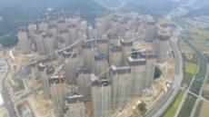 6,800가구 매머드급 대단지 아파트 'e편한세상 용인 한숲시티' 공사 현장 모습