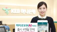 KEB하나은행 '하이로보' 출시 넉달만에 3000억 가입 돌파