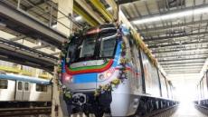 현대로템 제작 '인도 하이데라바드 전동차' 영업운행 개시