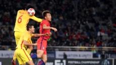 결국 무승부…E-1 챔피언십 개막전, 중국과 2:2