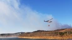 [포토뉴스] 울산 북구 '가대마을' 임야 화재…산림 5만㎡ 불타