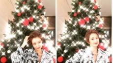 """고준희 """"미리 크리스마스""""…트리 전구 앞에서 자체발광 미모"""