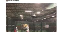 53세 팔메이로, MLB 투수로 복귀?…트위터에 타격 영상 공개