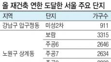 [김현미 국토'재건축 연한 연장'시사] 강남 재건축 조이기, 불똥은 강북에