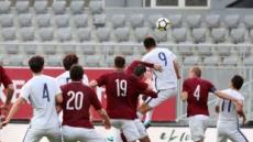 한국, 라트비아에 1-0 진땀승..여전한 골결정력