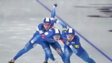스피드스케이팅 '남자 팀추월', 랭킹3위 이탈리아 꺾고 1위로 준결승행