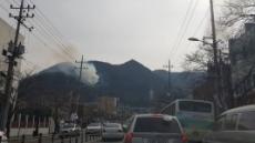 대구 산불 '초비상'…앞산공원 남부도서관 뒷편