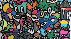 [지상갤러리]정재훈, earth, Acrylic marker, paint, ink, 162×128cm, 2018.