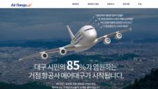 대구경북 거점 저비용항공사 설립 추진…'에어대구' 지지 서명 나서