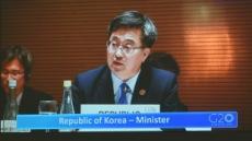 """[헤럴드포토]""""세계경제 위협요인 공동대처를…"""" G20 회의에 참석한 김동연"""
