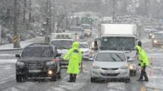 눈폭탄 맞은 제주 산간…1100· 516도로 일부구간 교통통제