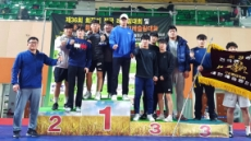 영남대, 제36회 회장기 전국레슬링대회 단체 우승