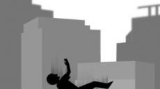 사우나 건물 4층 주차장 외벽 뚫고 승용차 추락…운전자 중상