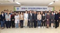 안양시, 경기도민회 장학 증서 전달