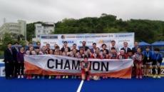 한국 여자 하키, 부활조짐…동해 5개국대회 우승
