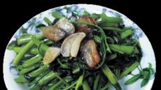 [혼밥남녀 푸드톡!]부드럽고 아삭아삭 섬유질·비타민 풍부'공심채 볶음' 어때요