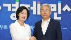 추미애, 김동철 바른미래당 비대위원장과 여야 협치 논의