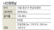 임대보증금만 48억 초고가'나인원한남' 내달 2일 청약