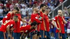 한일 월드컵 데자뷔, 고개 떨군 스페인…기록은 숫자일뿐