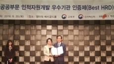 농어촌公, 인적자원개발 우수기관 인증