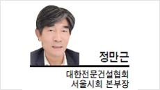 [헤럴드포럼-정만근 대한전문건설협회 서울시회 본부장] 경기지사 건설공사비 예산절감안에 대해…