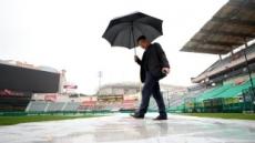 프로야구 한국시리즈 4차전 비로 연기…내일 인천서 열려