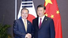 """文 """"긴밀한 공동 협력 희망"""" 시진핑 """"양국 이익 부합"""""""