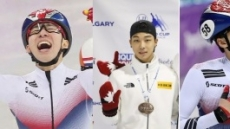 쇼트트랙 임효준·김건우·황대헌 1500m 금·은·동 '싹쓸이'…팀막내 김건희도 금메달