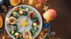 [리얼푸드]연말 파티에 어울리는 '호주망고 리스 샐러드'