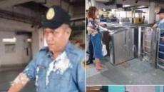 '푸딩 세례' 무례한 中여대생, 필리핀서 추방될 듯