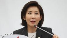 """나경원 """"文 대통령 '경제 견실하다' 말하다니…통계분식 시즌2"""""""